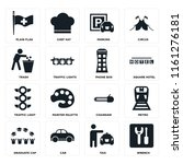 set of 16 icons such as wrench  ...