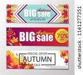 autumn sales banners. | Shutterstock .eps vector #1161277351