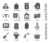 set of 16 icons such as molded  ...