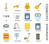 set of 16 icons such as trash...