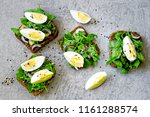 healthy fitness toasts with... | Shutterstock . vector #1161288574