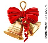 Golden Bells With A Red Bow....