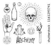 alchemy symbol icon set.... | Shutterstock .eps vector #1161295741