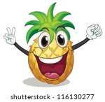 Illustration Of Pineapple On A...