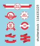 set of christmas sale banners ... | Shutterstock .eps vector #116131225