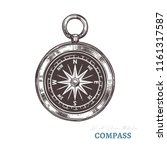 hand drawn compass. isolated...   Shutterstock .eps vector #1161317587