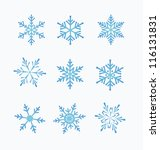 set of snowflakes  white... | Shutterstock .eps vector #116131831