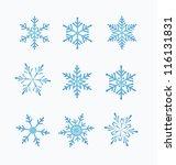 set of snowflakes  white... | Shutterstock .eps vector #116131831