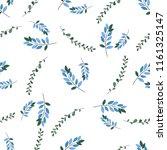 romantic seamless vector floral ... | Shutterstock .eps vector #1161325147