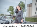 young attractive asian business ... | Shutterstock . vector #1161330241