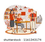 business people working with... | Shutterstock .eps vector #1161343174