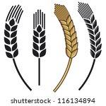 wheat ear icon set   Shutterstock .eps vector #116134894