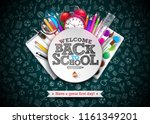 back to school design with... | Shutterstock .eps vector #1161349201