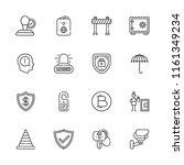 collection of 16 security... | Shutterstock .eps vector #1161349234