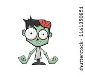cute halloween zombie with...   Shutterstock .eps vector #1161350851