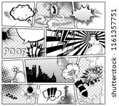 comics template.  retro comic... | Shutterstock . vector #1161357751