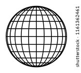 earth planet globe grid of... | Shutterstock .eps vector #1161362461