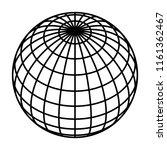 earth planet globe grid of... | Shutterstock .eps vector #1161362467