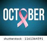 symbol of breast cancer... | Shutterstock .eps vector #1161364591