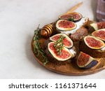 mini bruschetta  toast or... | Shutterstock . vector #1161371644