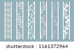 ornamental panels with floral... | Shutterstock .eps vector #1161372964