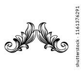 exquisite vintage baroque frame ... | Shutterstock .eps vector #1161376291
