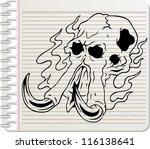 skull elephant vector