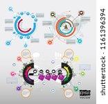 design colorful presentation... | Shutterstock .eps vector #1161396394