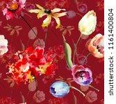 seamless pattern with original... | Shutterstock . vector #1161400804