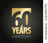 60 years anniversary gold black ... | Shutterstock .eps vector #1161404791