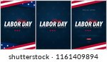 set of labor day sale... | Shutterstock .eps vector #1161409894