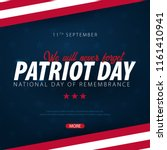 patriot day promotion ... | Shutterstock .eps vector #1161410941