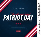 patriot day promotion ... | Shutterstock .eps vector #1161410947