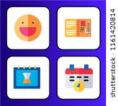 simple set of 4 multi colored... | Shutterstock .eps vector #1161420814