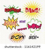 comics bubble superhero bashing | Shutterstock .eps vector #116142199