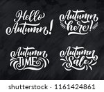 hello autumn. hand drawn... | Shutterstock .eps vector #1161424861