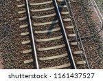 rail steel rails | Shutterstock . vector #1161437527