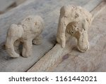 Elephant Sculpture From Clay...