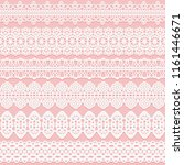 wide lace seamless ribbons set... | Shutterstock .eps vector #1161446671
