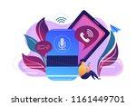 user making hands free phone... | Shutterstock .eps vector #1161449701