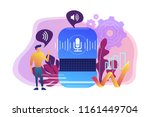 voice controlled smart speaker... | Shutterstock .eps vector #1161449704
