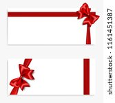 holiday gift banner with red... | Shutterstock .eps vector #1161451387