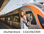 theme railway and travel.... | Shutterstock . vector #1161462304