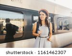 theme railway and travel....   Shutterstock . vector #1161462307
