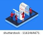mobile bill check | Shutterstock .eps vector #1161464671