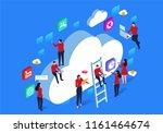 network cloud communication | Shutterstock .eps vector #1161464674