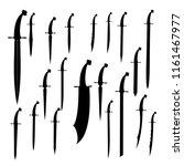 swords set. sword isolated ...   Shutterstock .eps vector #1161467977
