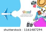 top view travel photography... | Shutterstock .eps vector #1161487294