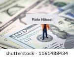 fed consider interest rate hike ... | Shutterstock . vector #1161488434