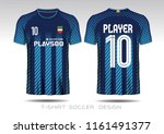 soccer jersey template. mock up ... | Shutterstock .eps vector #1161491377